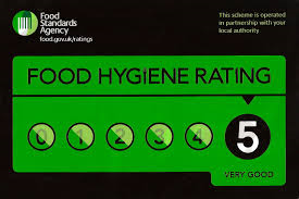 Food Hygiene rating - 5 stars watergate bay camping